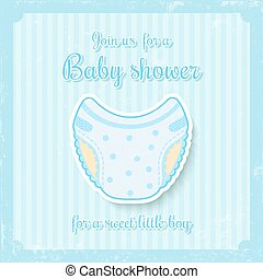 boy baby shower - cute baby shower invitation for baby boy...