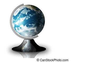 Animation of a turning globe and a stand in high definition
