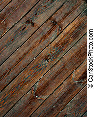 Wooden planks - Weathered obsolete striped textured wooden...