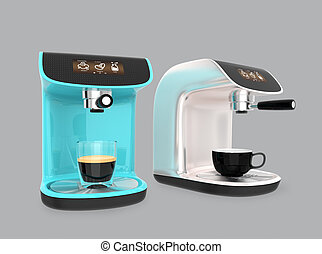 Stylish espresso coffee machines