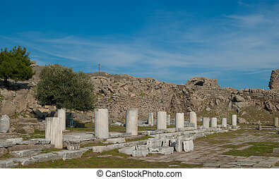 Pergamon - the ruins of the ancient Greek city of Pergamon