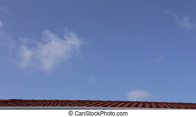 fast moving clouds caribbean sky ti - DSLR Full HD...