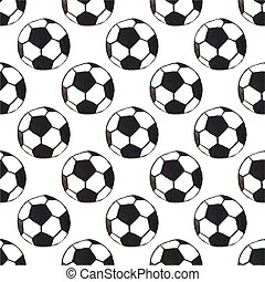 Watercolor seamless pattern with oldfashioned football ball on the white background, aquarelle. Vector illustration.