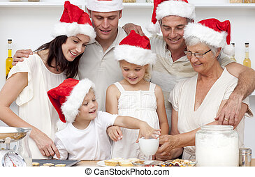 rodzina, wypiek, boże narodzenie, Ciasto, słodycze,...