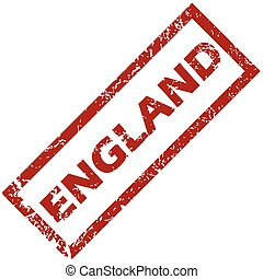 New England rubber stamp - New England grunge rubber stamp...