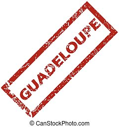 New Guadeloupe rubber stamp - New Guadeloupe grunge rubber...