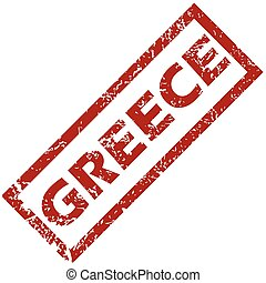 New Greece rubber stamp