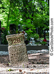 numbered grave site - numbered grave location, death, forget...