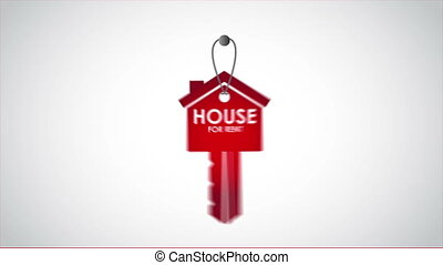 For rent animation - House for rent key, Video animation, HD...