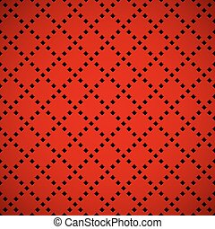 Red Background with Perforated Patt - Red abstract...