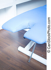 Physiotherapy rehabilitation bed in hospital medical clinic