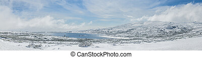 Mountain lake, Serra da Estrela, Portugal - Mountain lake...