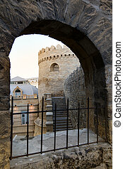 Old City, Baku in Azerbaijan - view to Old City from the...