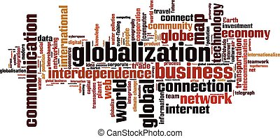 Globalization word cloud concept Vector illustration