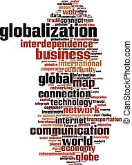 Globalization word cloud concept. Vector illustration