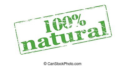 One hundred percent natural