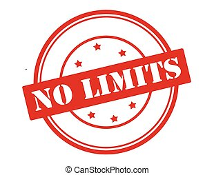 No limits - Rubber stamp with text no limits inside, vector...