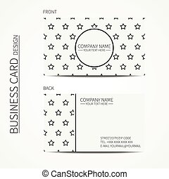 Vintage simple geometric monochrome business card template...