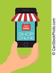 Shopping design. - Shopping design over greeen background,...