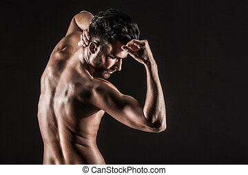 The Muscular Young Sexy Naked Cute Man Picture with high...