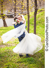 rotating the bride - Stylish bride and a very beautiful...