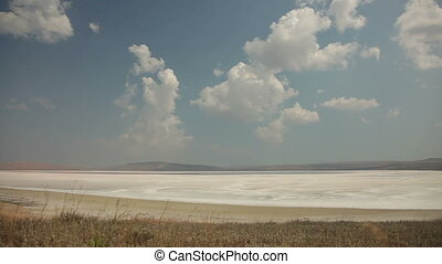 Crimean Salty Lake, Time lapse. - Crimean Salty Lake, Time...