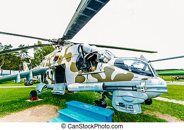Russian Soviet multi-purpose transport helicopter Mi-24 -...