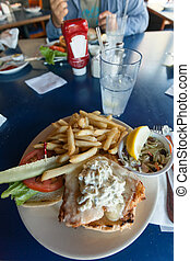 Fried Cod Fish Sandwich