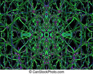 Dark Ornament Pattern - Digital collage technique dark...