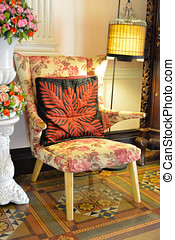Beautiful old style armchair.