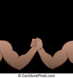 Arm Wrestling Muscle Power Strong Black Men - Arm wrestling...