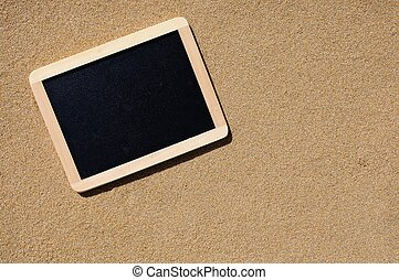 Blackboard on beach - A lonely blackboard sand beach to...
