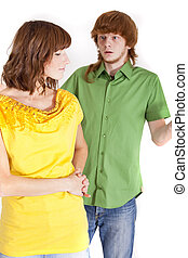 conflict in relationship - conflict between man and woman -...