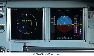 Glass cockpit cabin Electronic deck panel, display controls...