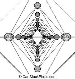 Octahedron DNA Molecule Structure