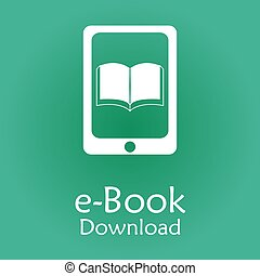 E-book - Colored background with an e-book icon Vector...