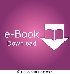 E-book - Colored background with an e-book icon. Vector...