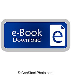 E-book - Colored label with an e-book icon Vector...