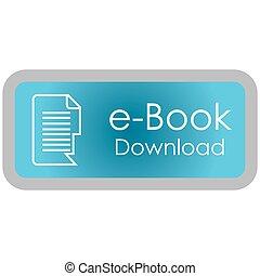 E-book - Colored label with an e-book icon. Vector...