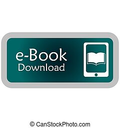 E-book - Colored label with an e-book icon. Vector...