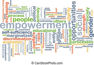 Empowerment wordcloud concept illustration - Background text...