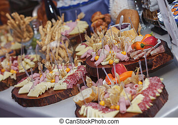 Catering food with decoration during celebration and...
