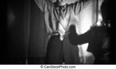 1940s 8mm Vintage Man Dancing - A man dancing with his hips...