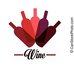 Wine design - Wine design over white background, vector...
