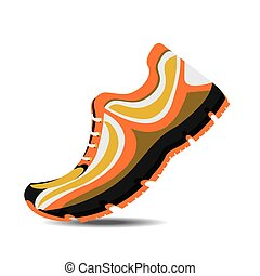 Running design. - Running design over white background,...