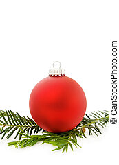 Christmas festive red bauble