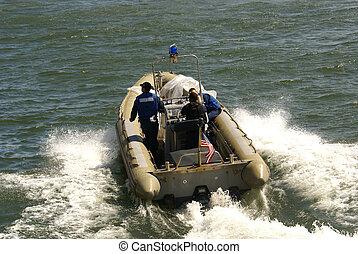 3, uomini, barca