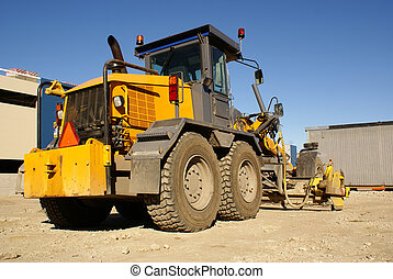 Dredge - Photo of powerful yellow bulldozer with big ladle