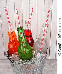 Closeup Soda Bucket High Angle View