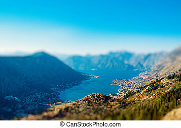 Kotor bay - View on Kotor bay from Lovcen mountain,...